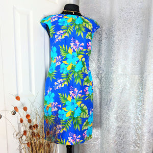 Spenser Jeremy Royal Floral dress Sz 4 M